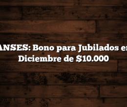 ANSES: Bono para Jubilados en Diciembre de $10.000