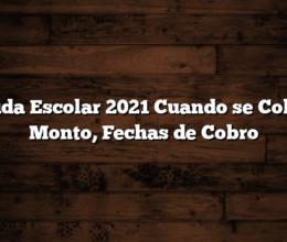 Ayuda Escolar 2021  Cuando se Cobra : Monto, Fechas de Cobro