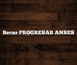 Becas PROGRESAR ANSES
