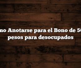 Como Anotarse para el Bono de 5000 pesos para desocupados