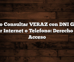 Como Consultar VERAZ con DNI Gratis por Internet o Telefono:  Derecho de Acceso