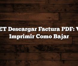 EDET Descargar Factura PDF: Ver, Imprimir Como Bajar