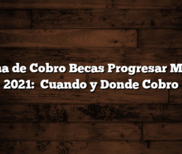 Fecha de Cobro Becas Progresar Marzo 2021:   Cuando y Donde Cobro