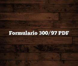 Formulario 300/97 PDF