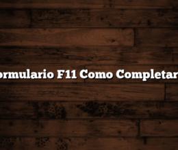 Formulario F11 Como Completarlo