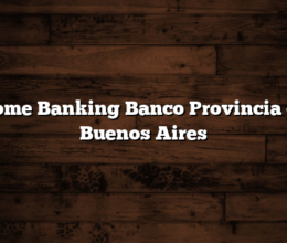 Home Banking Banco Provincia de Buenos Aires