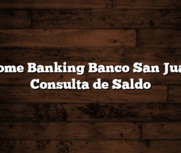 Home Banking Banco San Juan Consulta de Saldo