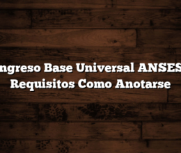 Ingreso Base Universal ANSES: Requisitos  Como Anotarse