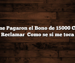 No me Pagaron el Bono de 15000  Como Reclamar   Como se si me toca
