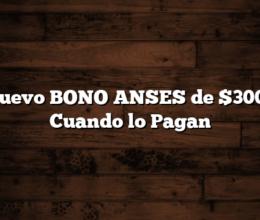 Nuevo BONO ANSES de $3000 Cuando lo Pagan