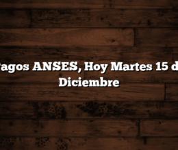 Pagos ANSES, Hoy Martes 15 de Diciembre