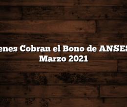Quienes Cobran el Bono de ANSES en Marzo 2021