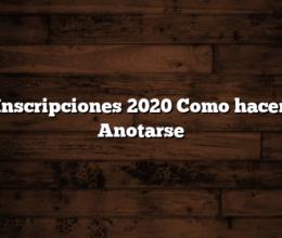 RBU Inscripciones 2020  Como hacer para Anotarse
