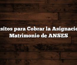 Requisitos para Cobrar la Asignacion por Matrimonio de ANSES