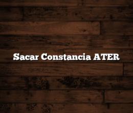 Sacar Constancia ATER