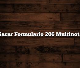 Sacar Formulario 206 Multinota
