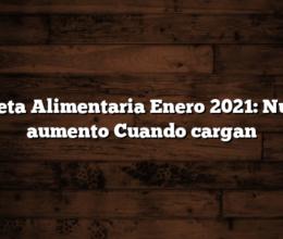 Tarjeta Alimentaria Enero 2021: Nuevo aumento  Cuando cargan