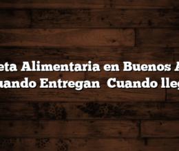Tarjeta Alimentaria en Buenos Aires  Cuando Entregan   Cuando llega