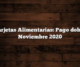 Tarjetas Alimentarias: Pago doble Noviembre 2020