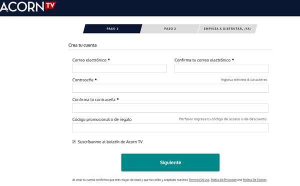 Cómo contratar y activar una cuenta de Acorn TV en Argentina