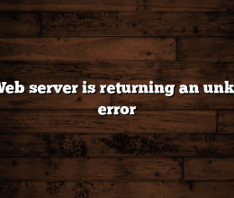 520: Web server is returning an unknown error